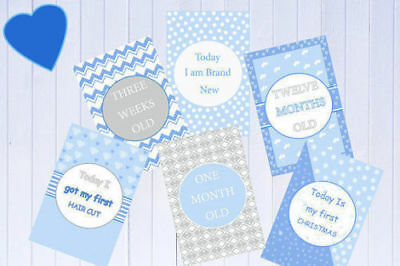 Baby Milestone Cards Pack of 34 Boys, Girls, Unisex, Baby Shower Gift New Mum