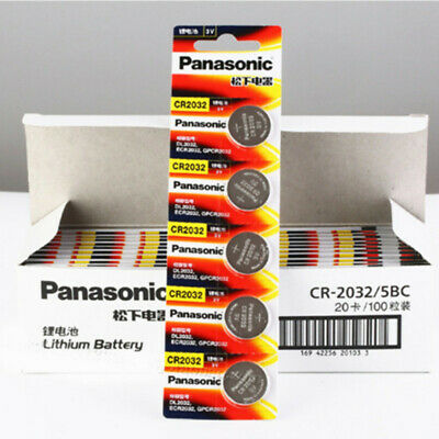 100 X PANASONIC CR2032 CR 2032 3v Lithium Battery Expiration date 2028