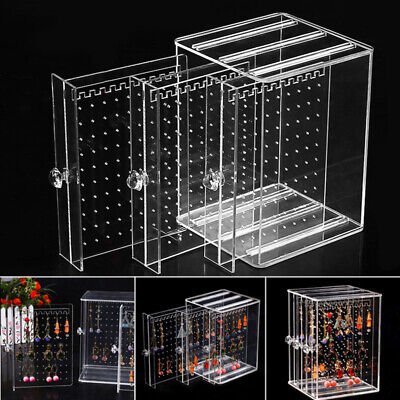 Acrylic Transparent Earrings Jewelry Storage Box Jewellery Display Stand Rack