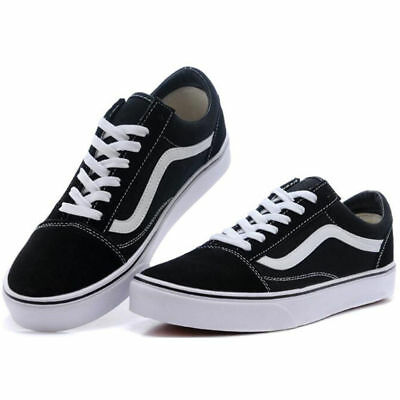 MENS WOMENS VAN Classic OLD SKOOL Low Top Casual Canvas sneakers Shoes
