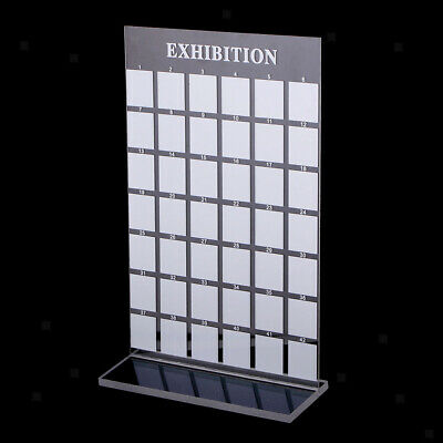 42 Grids Clear Acrylic Nail Tips Photo Frame For Nail Art Practice/ Display