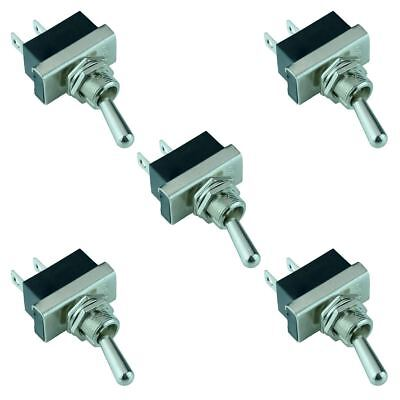 5 x On-Off Toggle Switch SPST