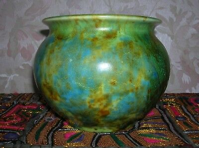 CLEWS & Co. Chameleon Ware pottery mottled green vase