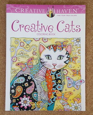 Creative Haven CREATIVE CATS Adults & Kids Colouring Book 2015