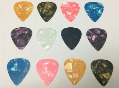 NEW Celluloid Standard .46mm Guitar Picks Plectrum 7-Pack random colors.
