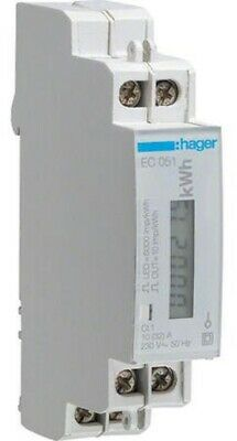 Hager KILOWATT-HOUR METER HAGEC051 230V 10-32A Pulsed 1-Phase Direct Connection