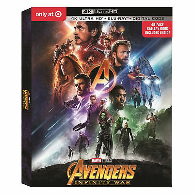 Marvel Avengers Infinity War (4K UHD+Blu-Ray+Digital HD) w/book Target exclusive