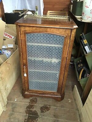 Antique Music Cabinet, Or Use As A Glazed Bookcase or  Pier Cabinet