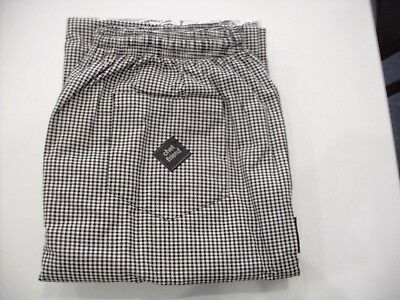 Polyester / Cotton Yarn Dyed Check Drawstring Chef Pants