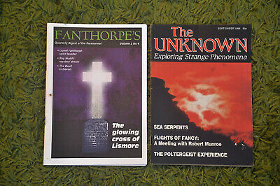 2x paranormal magazines. Fanthorpes Unknown. Free postage.