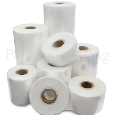 LAYFLAT TUBING Clear Polythene Rolls Various Widths and Quantities