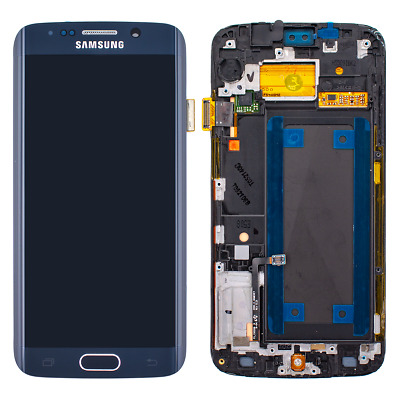 Original Samsung S6 Edge Display Schwarz G925F LCD Glas Bildschirm Touch Screen