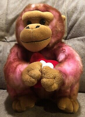 MONKEY GORILLA BROWN Tan Ape With Glasses Plush Stuffed