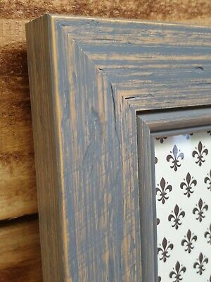 Solid Wood Picture Frame, Handmade,Grey, Distressed Shabby Chic, Many Sizes!