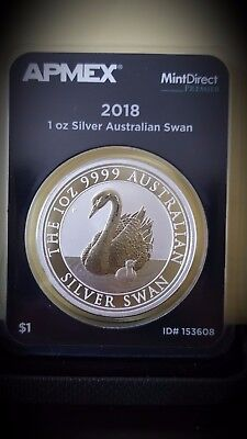 2018 Australia 1 oz Silver Swan BU - (Mint Direct premier )
