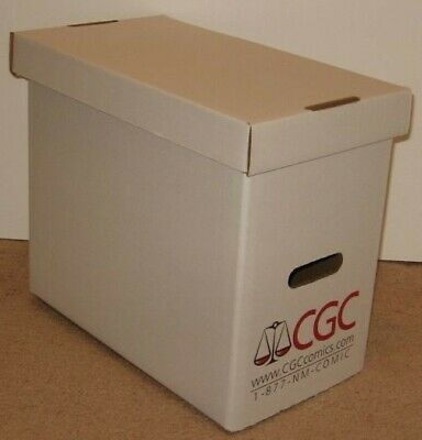 5 Official CGC Graded Comic Book Slab Corrugated Cardboard Storage Boxes box