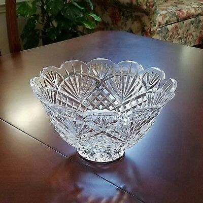 "Waterford Crystal ~ Northern Lights 10"" Footed Centerpiece Bowl ~ Mib ~ Signed"