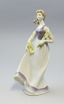 Porcelain figurine Lady with scarf Graefenthal Thuringia 9943167