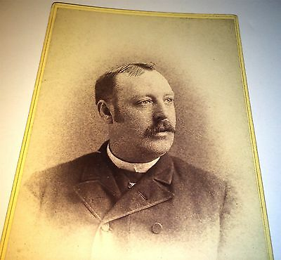 Rare Antique American Politician, Judge! ID'd Connecticut Cabinet Photo C.1886