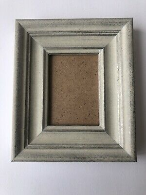 NEW Quality wooden ACEO Art/sports card 3.5 x 2.5 white/grey frame