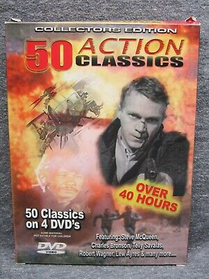 50 Classic Action Movies - Collectors Edition (4 DVDs) - Steve McQueen & More!