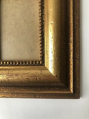 NEW Quality wooden ACEO Art/sports card 3.5 x 2.5 gold picture frame