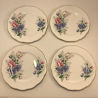 Royal Albert 'Sweet Pea' Friendship Series Lot 4x  Bread Butter Dessert Plates B
