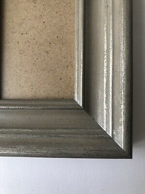 NEW Quality wooden ACEO Art/sports card 3.5 x 2.5 grey frame