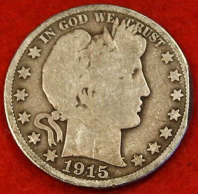 1915-D Barber Half Dollar G Beautiful Coin Check Out Store Bh297