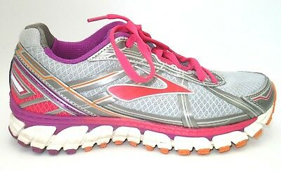 6002225e6ca Brooks Defyance 9 Silver Pink Athletic Training Running Shoes Womens 8 B