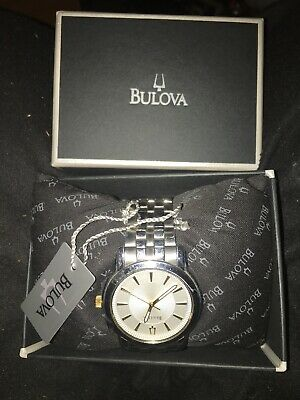 Bulova 98A125 Men's Dress Silver Sunray Dial Silver-Tone Stainless Steel Watch