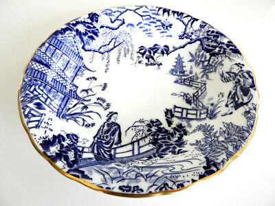 Royal Crown Derby BLUE MIKADO Cereal Bowl (S) Coupe - NICE!