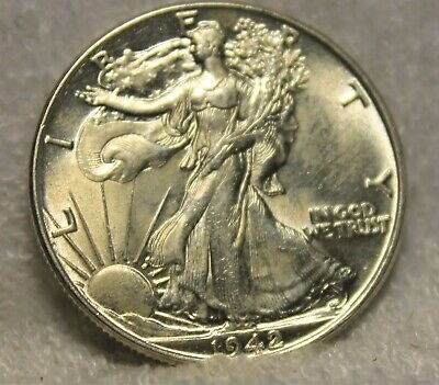 1942 uncirculated walking liberty half dollar
