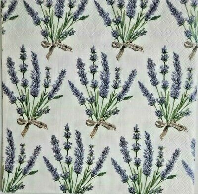 Servilletas decoupage, 4 und.Vintage.Lavender Paper Napkins for decoupage, craft