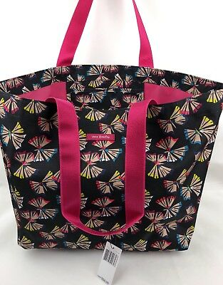 VERA BRADLEY LIGHTEN UP LARGE FAMILY TOTE BEACH BAG •ART BUTTERFLIES • Sold Out