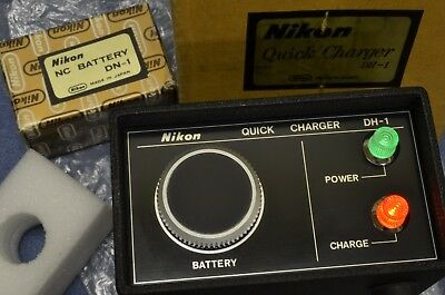 Late 1970s NEW IN BOX Nikon DH1 Charger W/DN1 Battery DS1 DS2 DS12 F2S F2SB F2AS