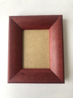 NEW Quality wooden ACEO Art/sports card 3.5 x 2.5 Brown/red frame