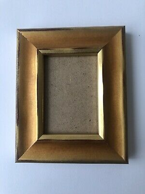 NEW Quality wooden ACEO Art card 3.5 x 2.5 Brown/gold picture frame