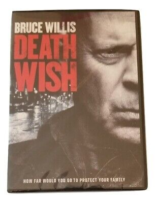 Death Wish (DVD,2018) Bruce Willis Widescreen New Sealed Free Shipping