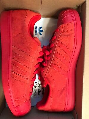 low priced ed028 11f19 Adidas Original Superstar RT Suede Triple Red-Sz.11.5 New