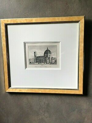 RARE early 19th Century set of six Achille Parboni Engravings in Gold Frames