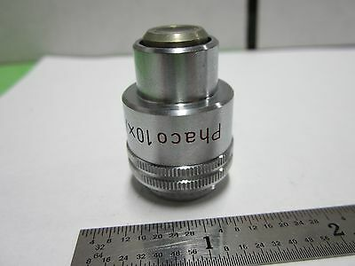 Microscope Pièce Objectif Phaco 10x Leitz Wetzlar Allemagne Optiques Bin #F1-15