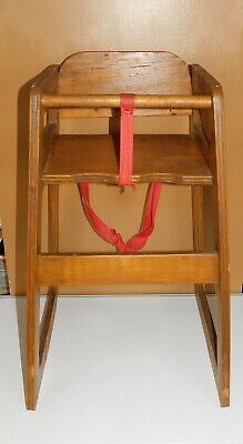 Wood Wooden Baby Toddler High Chair Booster Seat Restaurant Style