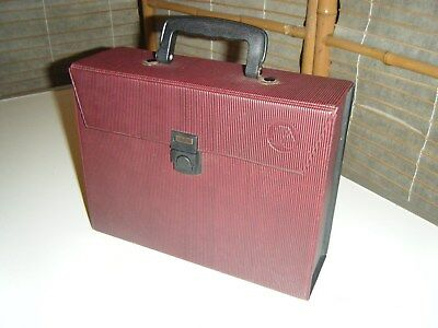 Vintage retro 60s or 70s cassette tape storage case holds 20 tapes