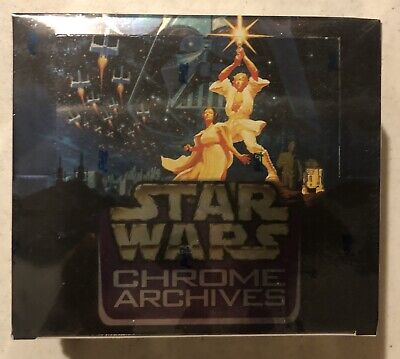 1999 Tops Star Wars Chrome Archives - Factory Sealed Trading Card Hobby Box