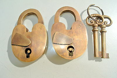 Old Brass STA-LOK  Padlock Lock Made in England BRITISH MADE £6 each post FREE
