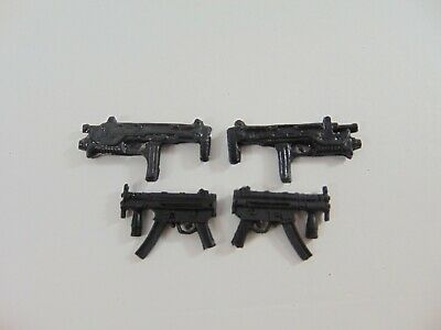 CUSTOM WEAPONS 1:12 scale MP5 Custom Uzi Black for 6 Inch Action Figures  1/12