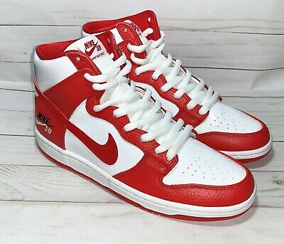 quality design c33a6 32ae4 NIKE SB ZOOM Dunk High Pro Dream Team Red White Size 10 854851-661