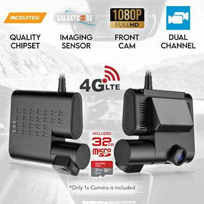 Dash Cam Dual Camera Car 1296P 2.0 LCD Uber Taxi Hardwire Kit Charger 32GB Elinz