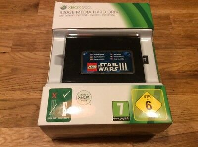 XBOX 360 Media Hard Drive Internal 320GB Used No Game Code for XBOX 360 S